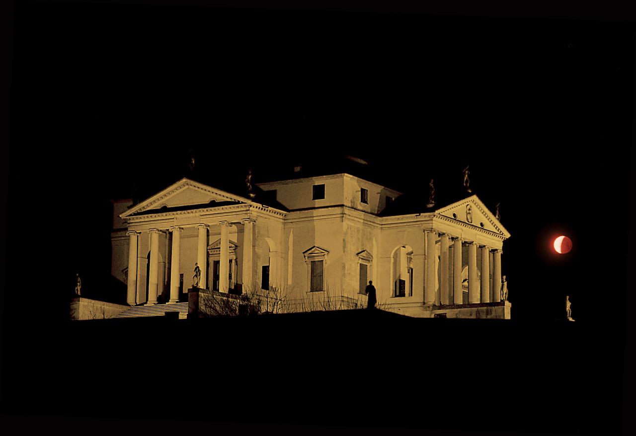 "Lunar Eclipse over ""Villa Capra"""