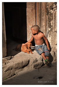 Havana Boy and Dog