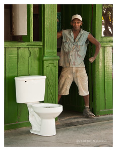 Havana Stong Man and a Toilet