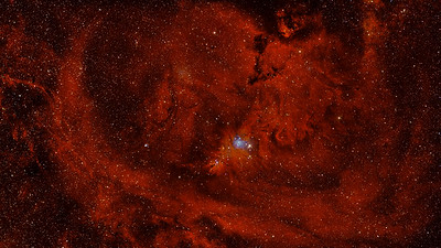 The Monoceros Dark Nebula Complex - Fox Fur, Cone and Hubble's Variable Full Spectrum