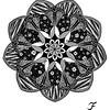 Zentangled Mandala
