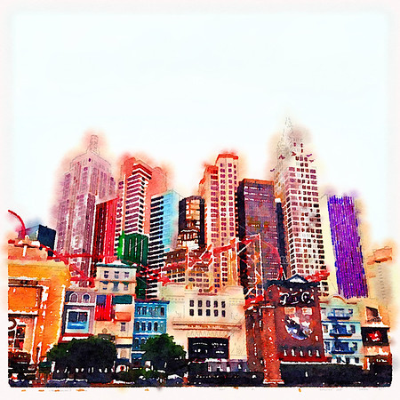 Las Vegas watercolour