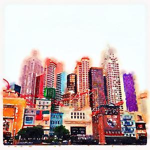 Las Vegas watercolour