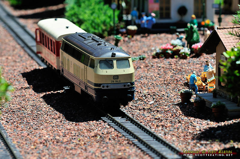 "Miniature train and village in ""Germany"" - EPCOT"