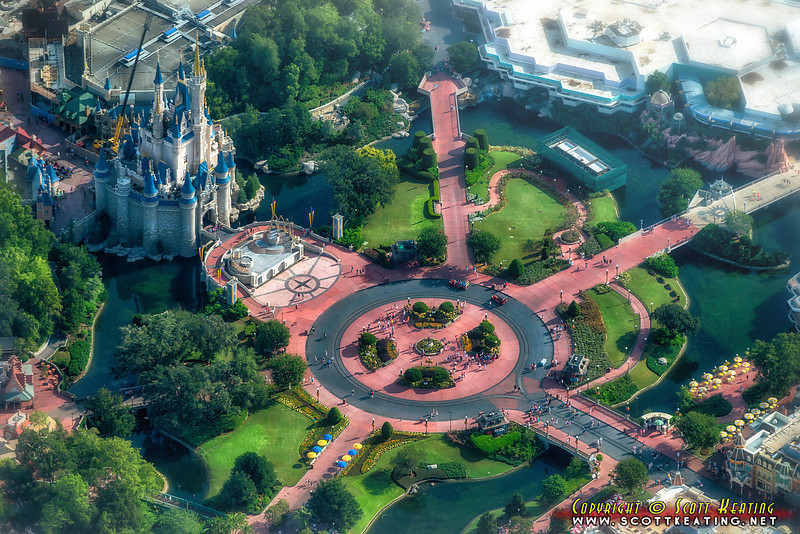 "Cinderella Castle and the ""hub"" at The Magic Kingdom"