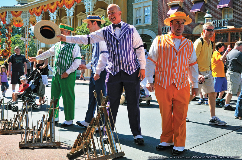 Dapper Dans on Main Street - the Magic Kingdom, Disney World