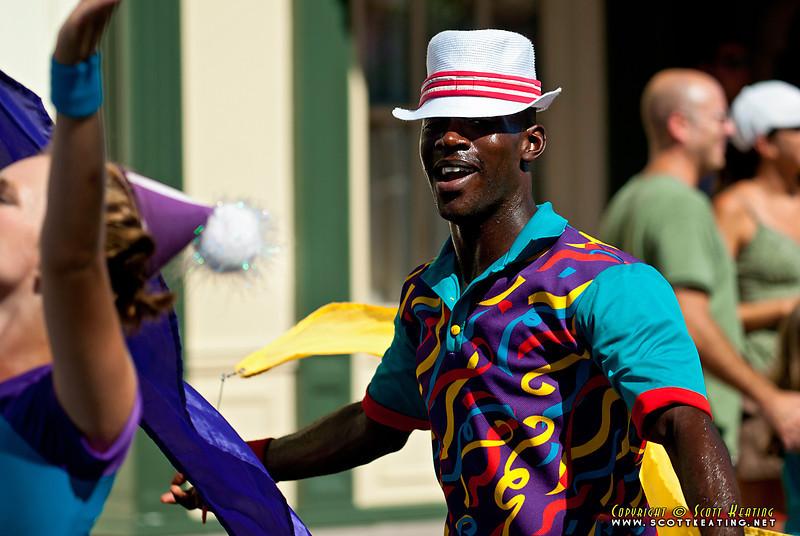 Main Street Parade performer at The Magic Kingdom