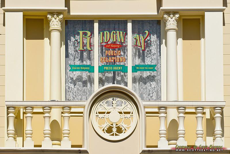 Window sign on Main Street, The Magic Kingdom - Disney World