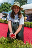 Showing off the Cranberries at Epcot's Cranberry Bog - during the Food & Wine Festival 2012