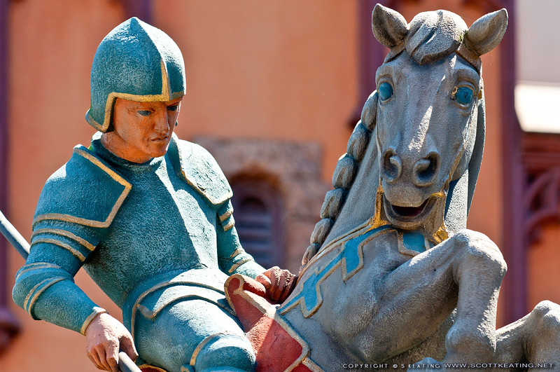 Statue of St George and the Dragon in the platz, Germany - EPCOT