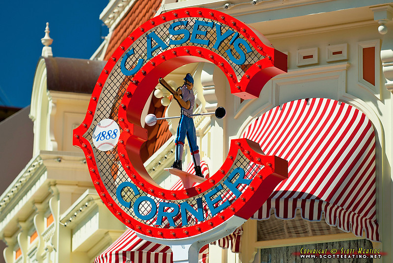 sign detail of Casey's Corner, The Magic Kingdom