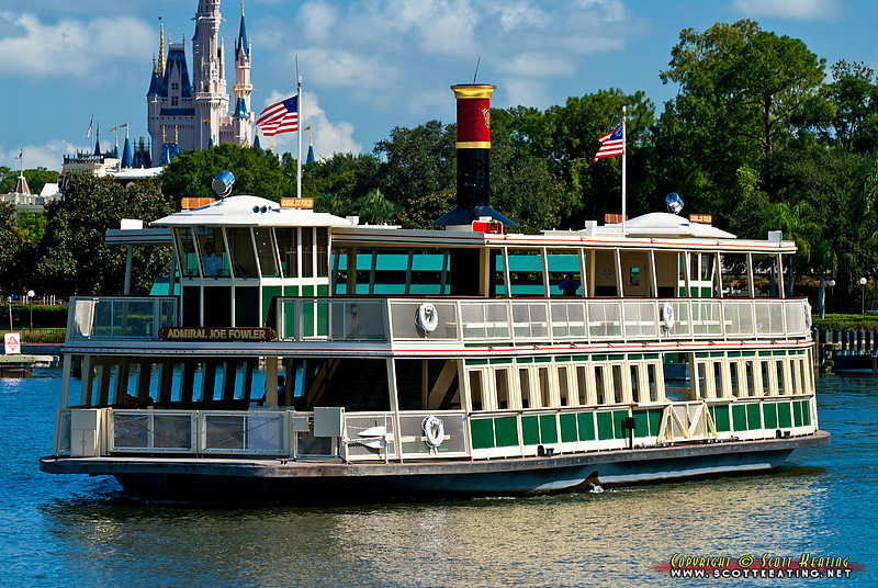 "Disney World Ferry Boat ""Admiral Joe Fowler"" leaving The Magic Kingdom (July 29 2011)"