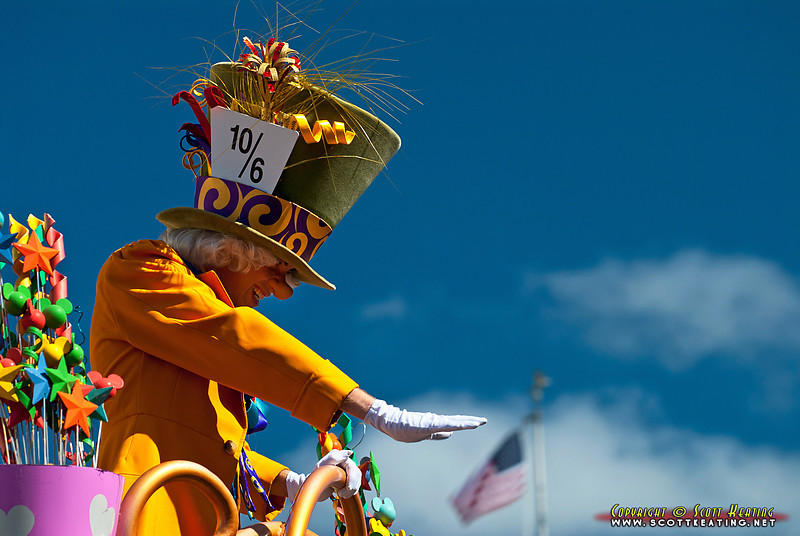 Main Street Parade character, the Mad Hatter