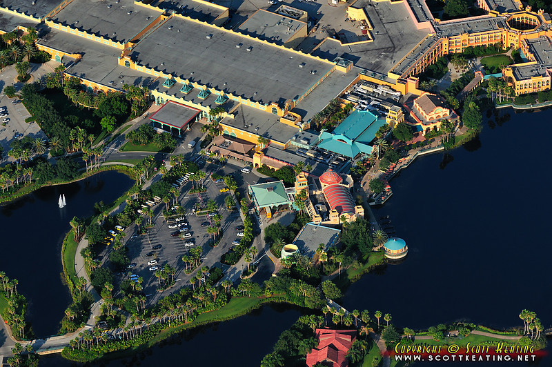 """Front-entrance, lobby, and convention center - """"El Centro"""", the Maya Grill, Pepper Market, and Casitas"""