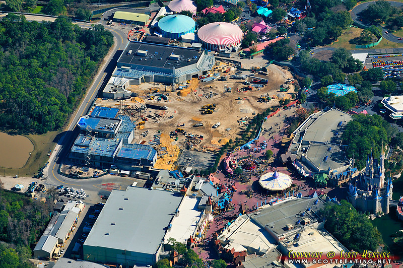 Fantasyland Construction at the Magic Kingdom - January 23 2011