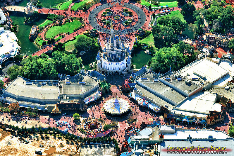 North-side of Cinderella Castle and Fantasyland