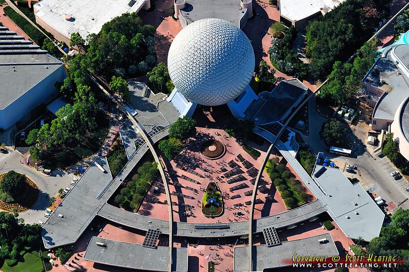 Epcot main entrance & Space Ship Earth - October 2011