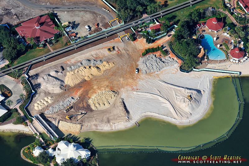Disney World's Grand Floridian resort DVC construction/expansion area next to the Wedding Pavilion