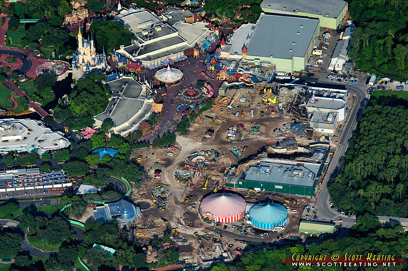 The Fantasyland expansion project at The Magic Kingdom in mid-July 2011.