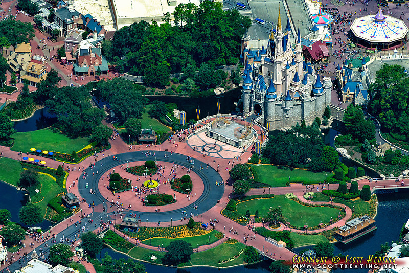"Cinderella Castle & the ""Hub"" at The Magic Kingdom, Disney World"