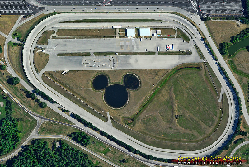 Disney World's speedway early Sunday morning.