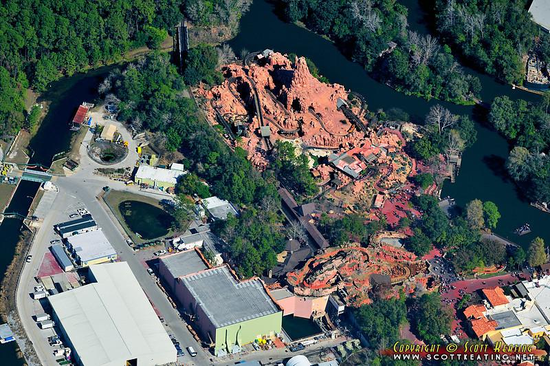 Big Thunder Mountain RR and Splash Mountain (dry), Fantasyland - Disney World, the Magic Kingdom