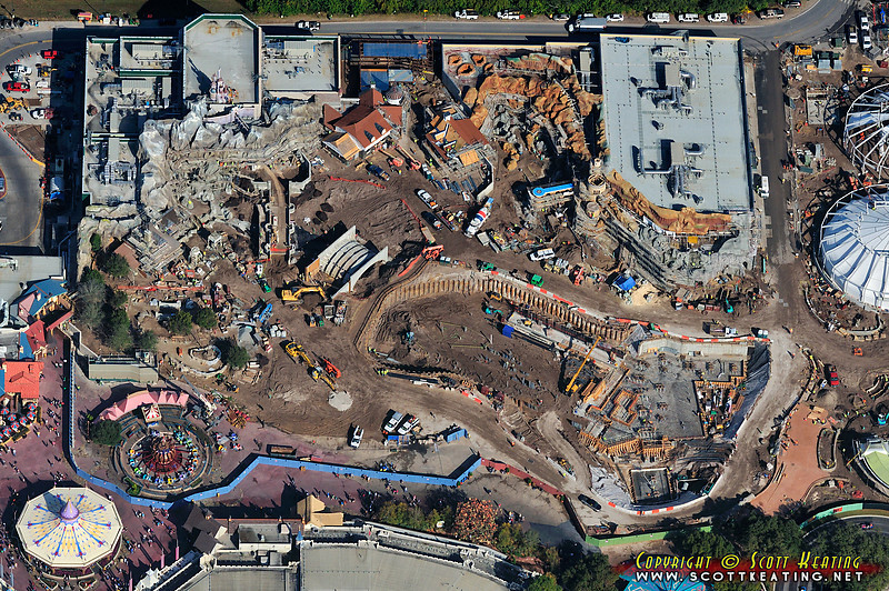 Fantasyland Expansion/Construction at The Magic Kingdom - Jan 12 2012 - north view