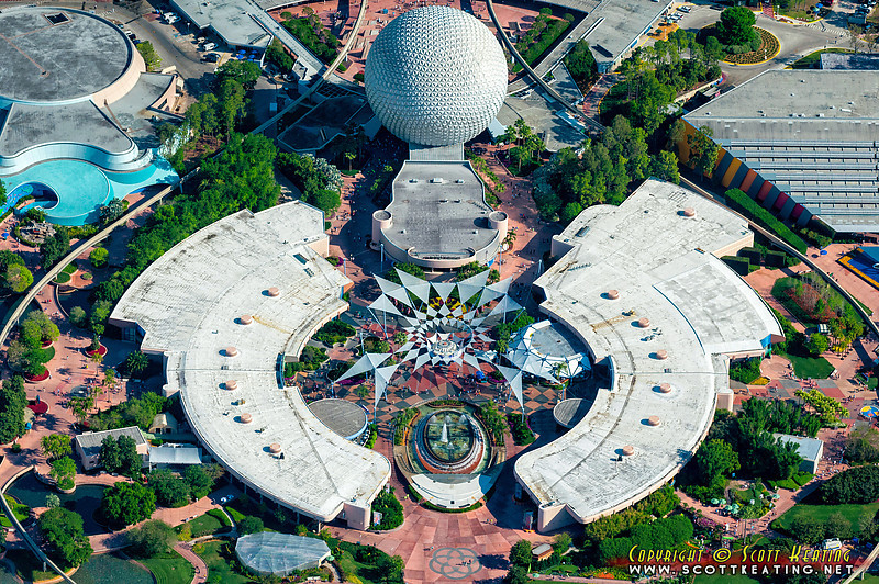Aerial view of Disney's EPCOT during the 2012 International Flower & Garden Festival