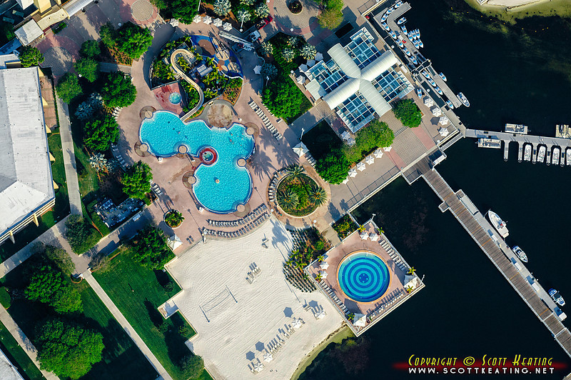 The pool area at Disney's Contemporary Resort - Walt Disney World