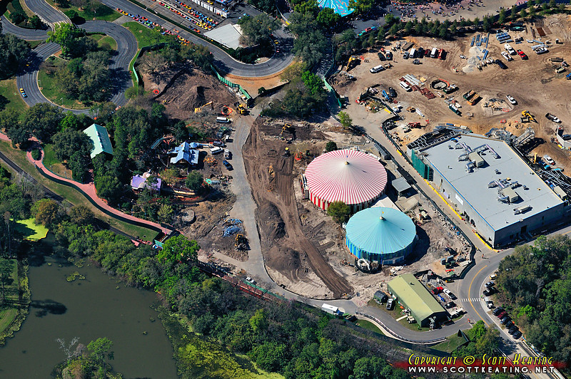 What used to be Toontown at the Magic Kingdom.  After 30 days just about everything is gone.