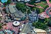 Putting up the Christmas lights on Cinderella Castle - The Magic Kingdom, Disney World