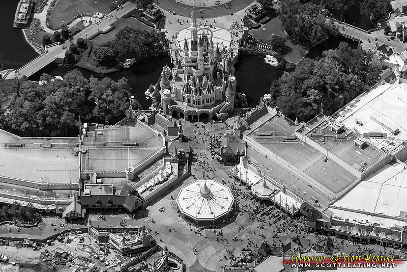 Fantasyland and the north side of Cinderella Castle at The Magic Kingdom, Disney World
