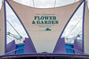 Pin Station Flower & Garden Festival Sign<br /> Flower & Garden Festival banner/sign on the Pin Station at Epcot