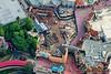 Fantasyland construction at The Magic Kingdom between Small World and Haunted Mansion - August 2012