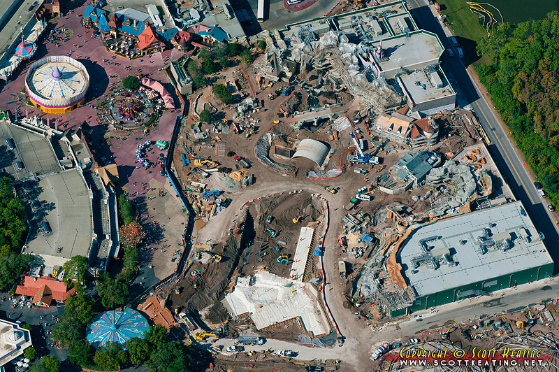 The Fantasyland expansion project at The Magic Kingdom, Dec 7 2011