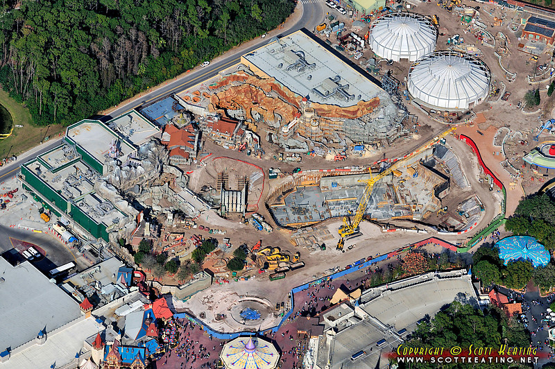 Fantasyland Construction Feb 12 2012<br /> Fantasyland Expansion/Construction - February 2012