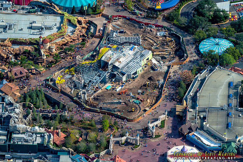 Walt Disney World's Fantasyland construction - December 2012
