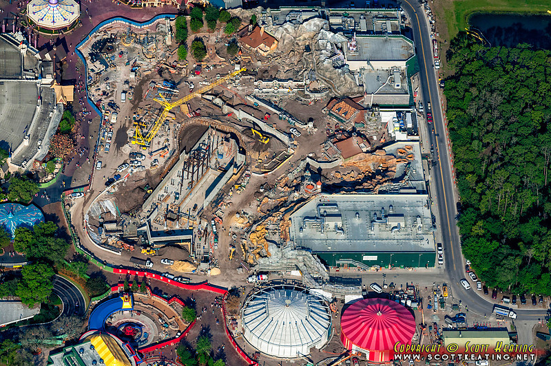 Fantasyland expansion construction - April 2012