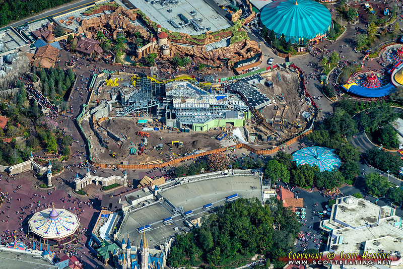 Walt Disney World's Fantasyland construction - December 2012