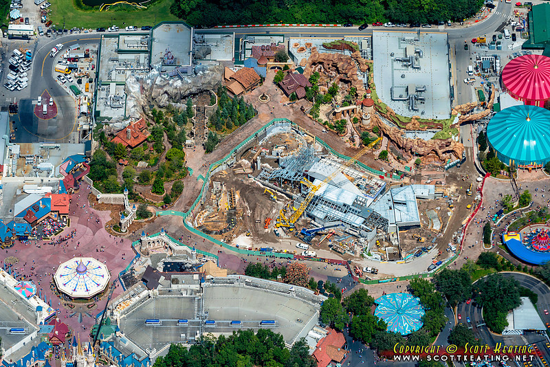 The Fantasyland expansion project at The Magic Kingdom, September 2012