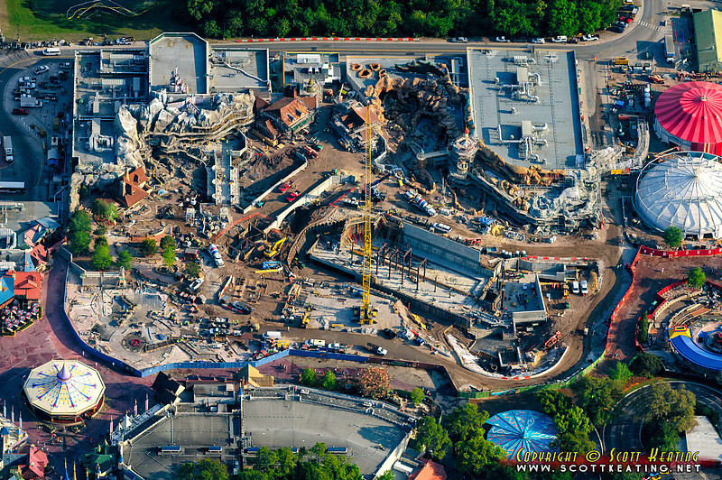 The Fantasyland expansion project at Walt Disney World's Magic Kingdom park - March 30 2012
