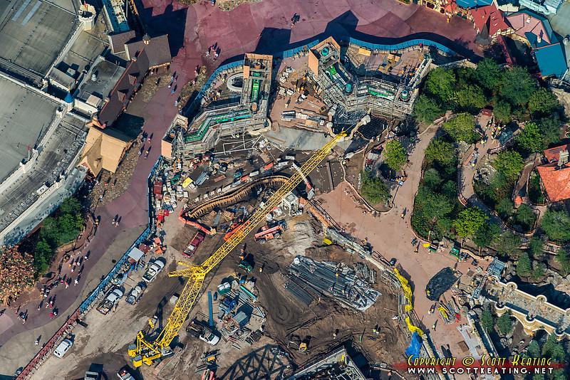Fantasyland Construction at The Magic Kingdom - July 2012