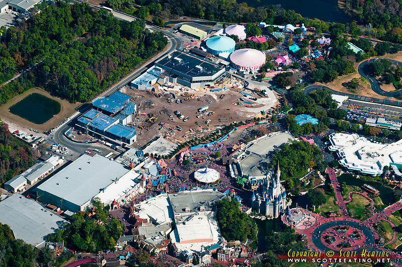 The Magic Kingdom's Fantasyland construction site, January 2011