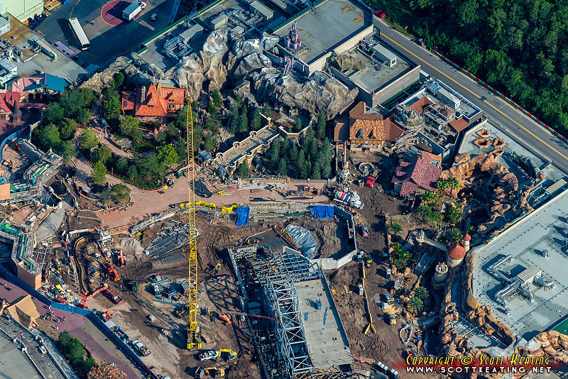 Fantasyland Construction at The Magic Kingdom - July 2012
