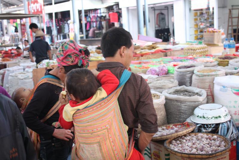 Ganlanba, market, buying stuff needed at the village
