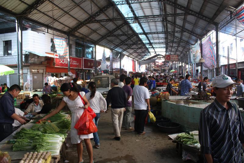 Ganlanba, local market
