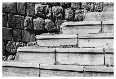 Roman Theater Seat Numbers - Alexandria, Egypt