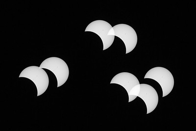 An in-camera multiple exposure of the August 21, 2017 total eclipse of the sun. Taken in the Sawtooth National Recreation Area, Idaho, USA.