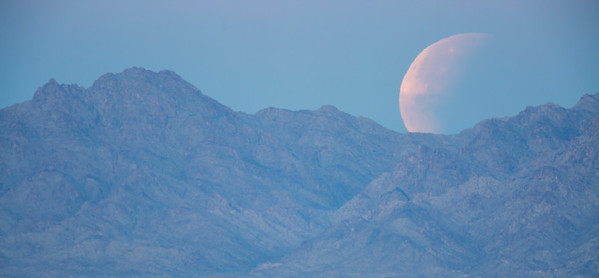 """Moonset of the Partially Eclipsed Moon"""