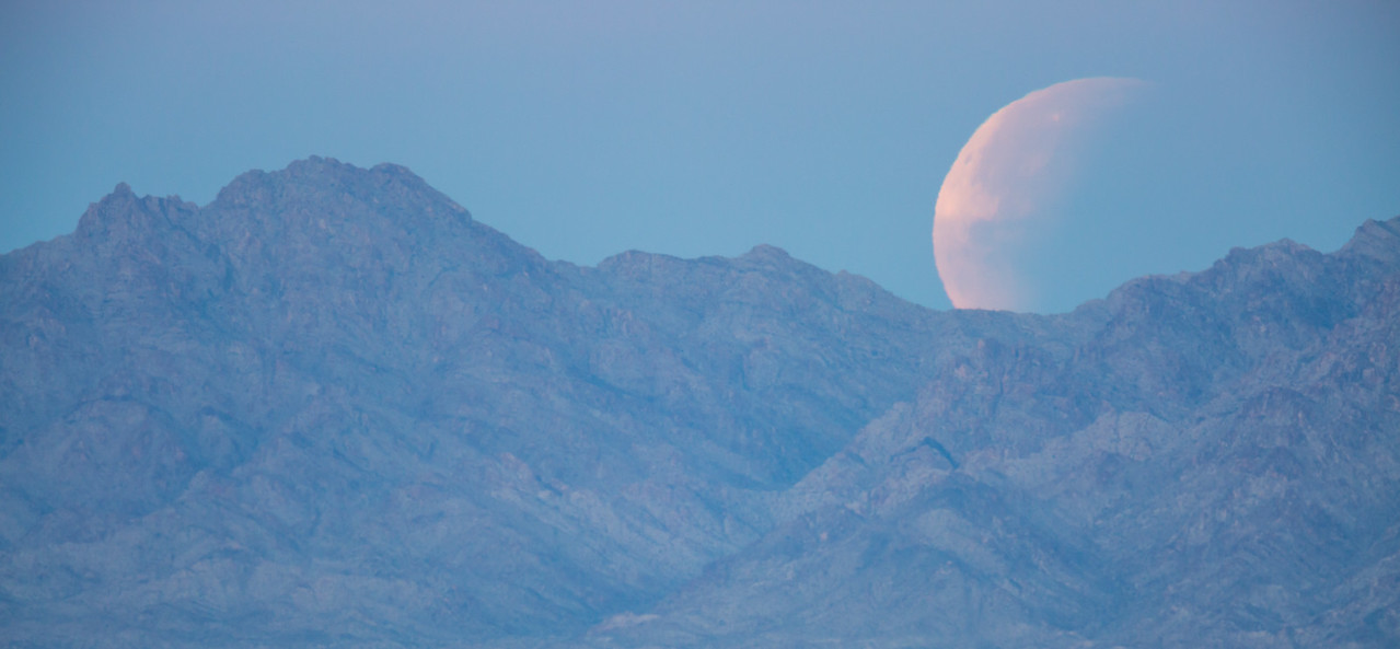 """""""Moonset of the Partially Eclipsed Moon"""""""